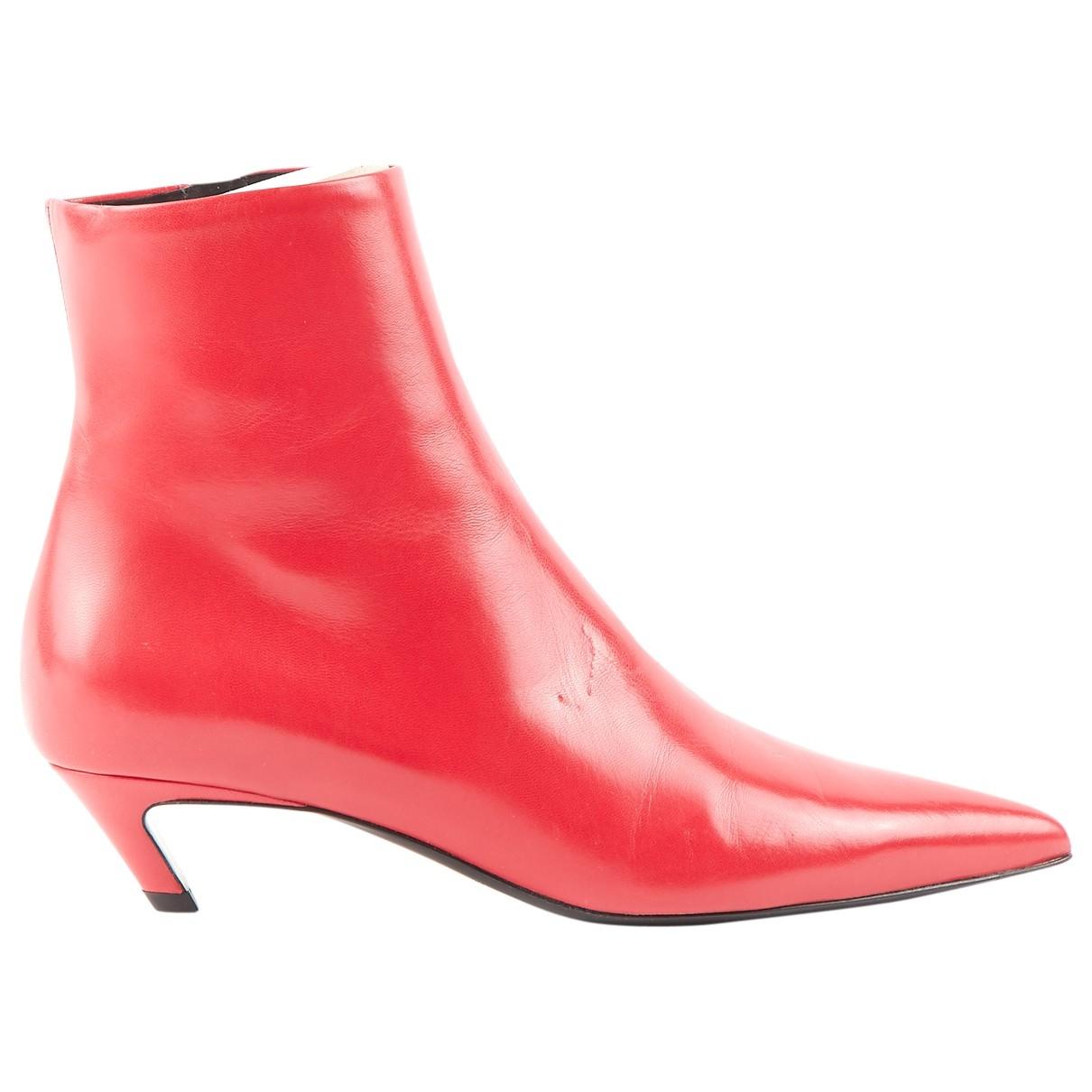 Balenciaga - Boots   pour femme en cuir - rouge