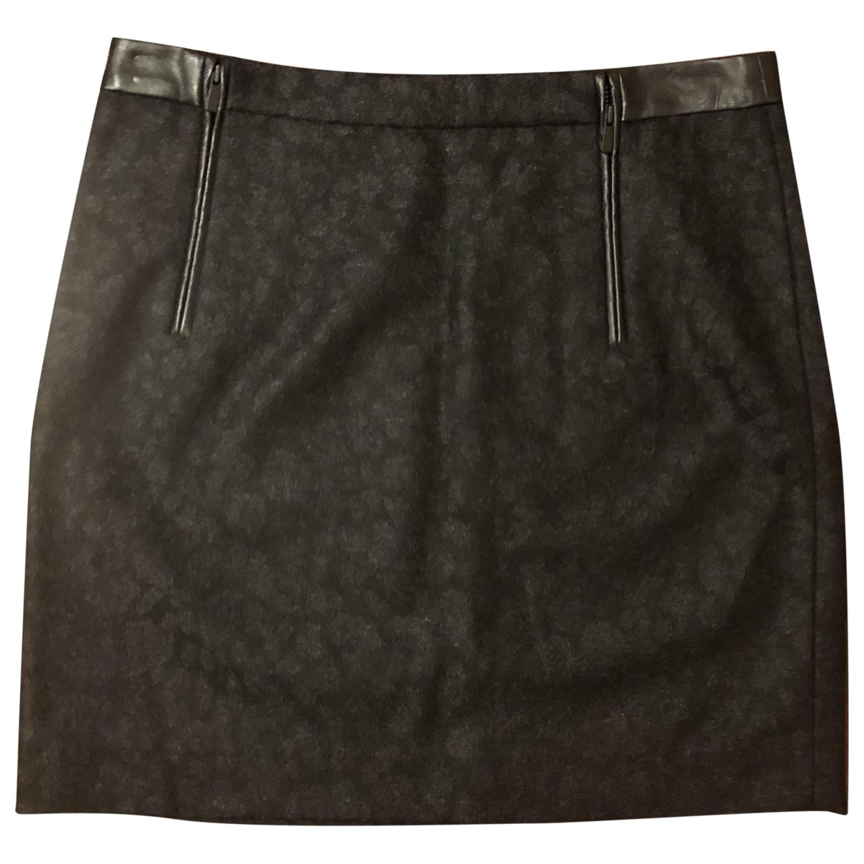 Comptoir Des Cotonniers \N Anthracite Wool skirt for Women 36 FR