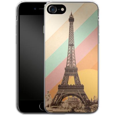 Apple iPhone 8 Silikon Handyhuelle - Eiffel Tower Rainbow von Florent Bodart