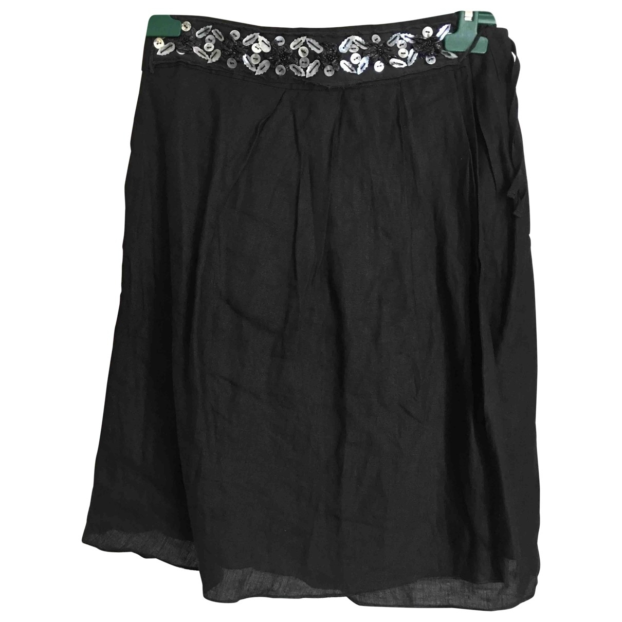 Tara Jarmon \N Black Linen skirt for Women 36 FR