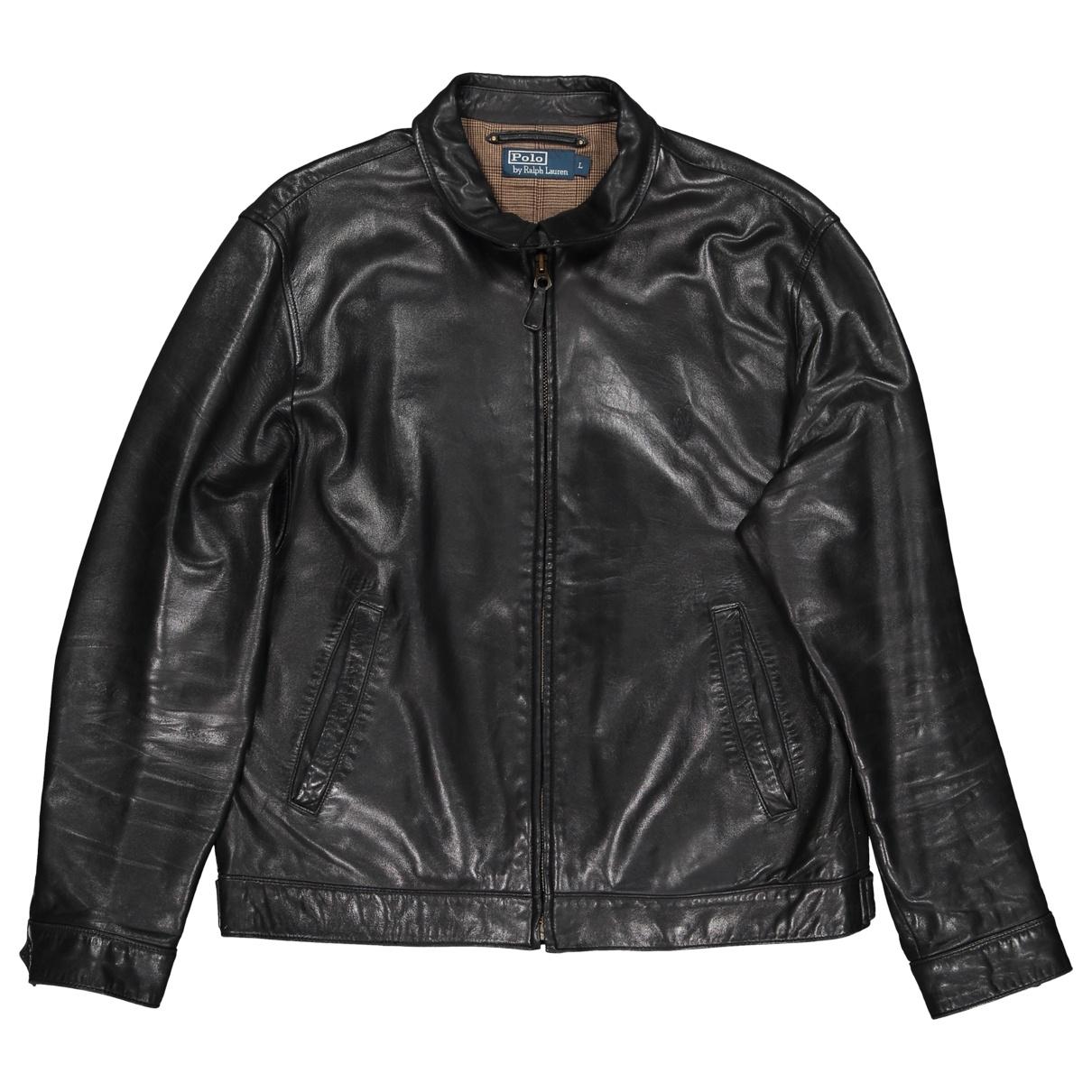 Ralph Lauren Collection \N Black Leather jacket  for Men L International