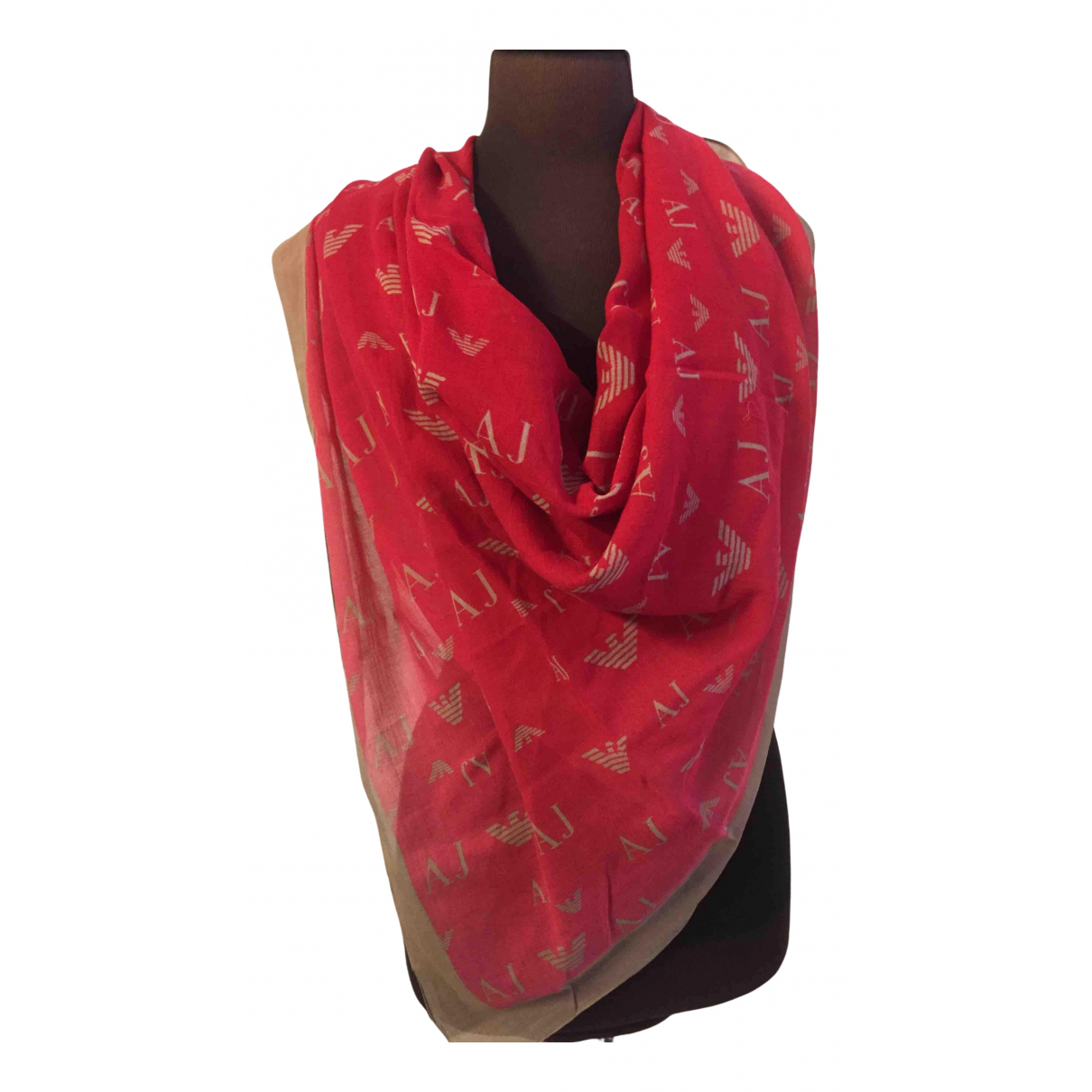 Armani Jean - Foulard   pour femme en coton - rouge