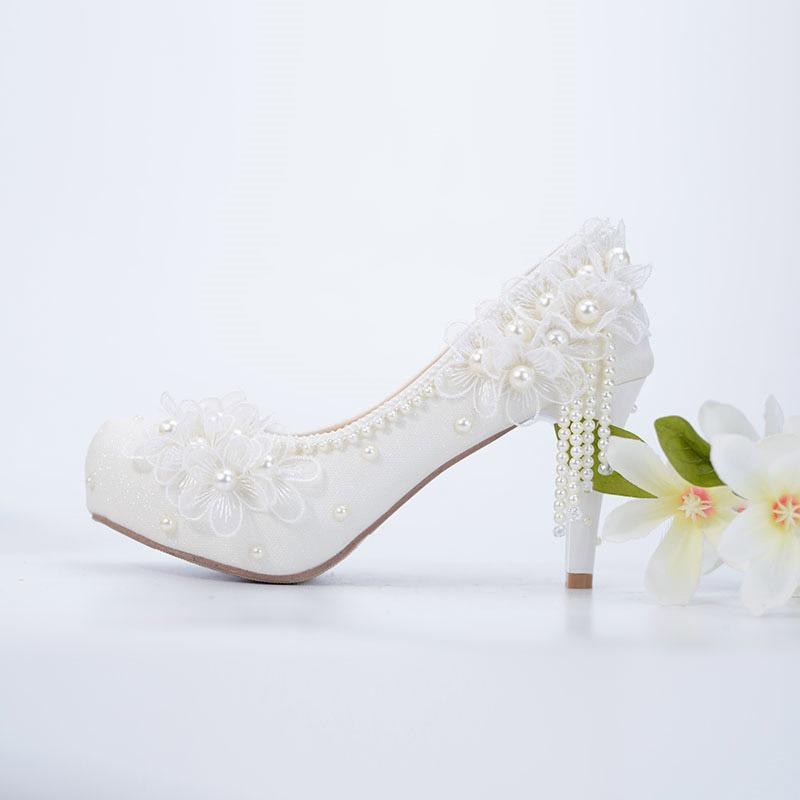 Ericdress Stiletto Heel Platform Round Toe Wedding Shoes