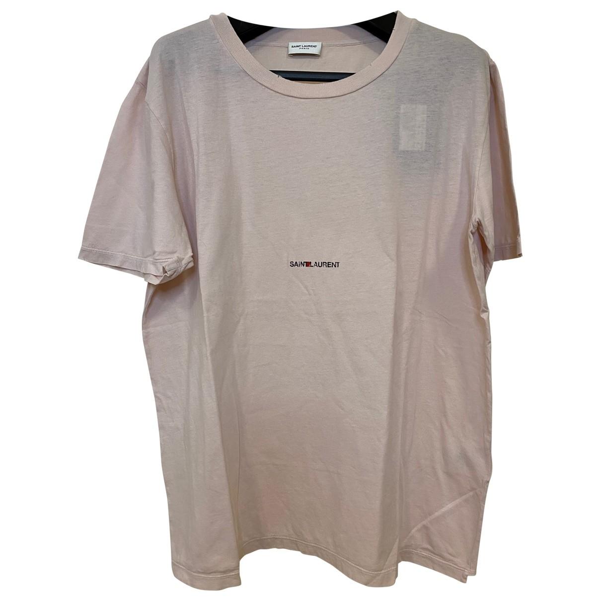 Saint Laurent \N Pink Cotton T-shirts for Men S International