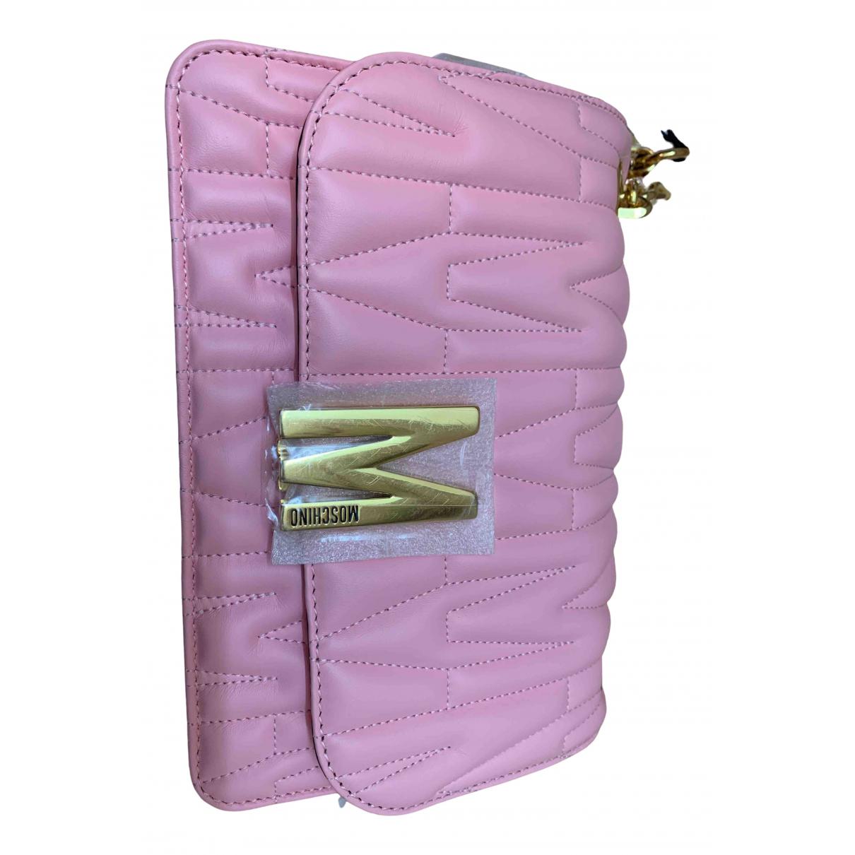 Moschino - Sac a main   pour femme en cuir - rose