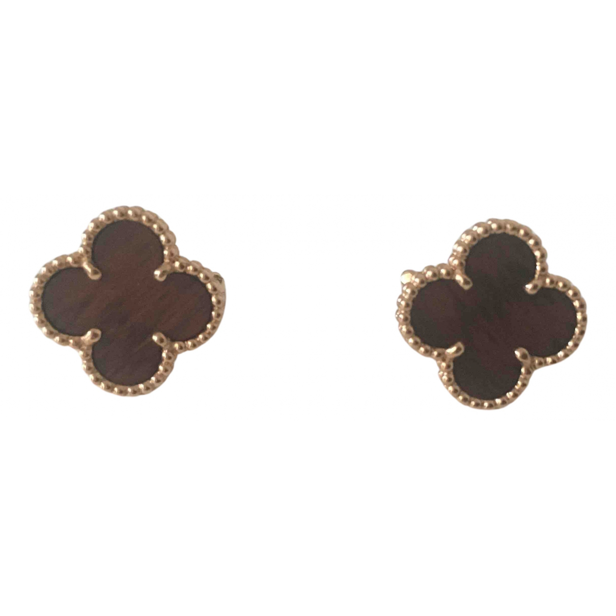 Van Cleef & Arpels - Boucles doreilles Vintage Alhambra pour femme en or rose - dore