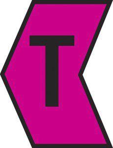 HellermannTyton Ovalgrip Slide On Cable Marker, Pre-printed T Black on Pink 1.7 → 3.6mm Dia. Range