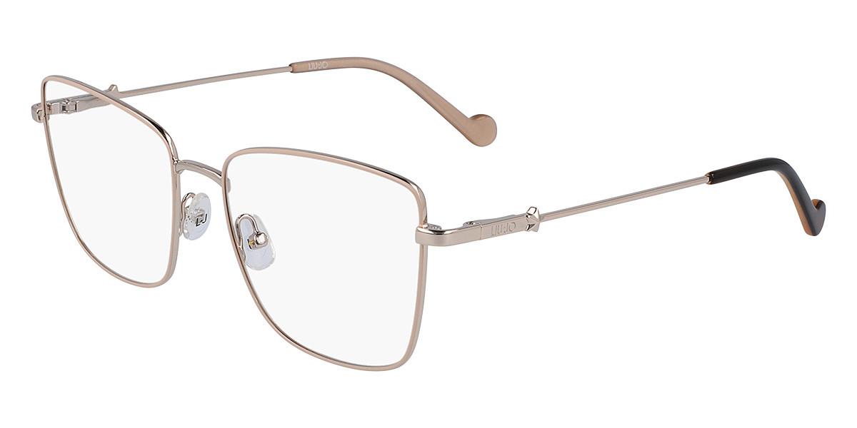 Liu Jo LJ2151 718 Women's Glasses Gold Size 53 - Free Lenses - HSA/FSA Insurance - Blue Light Block Available