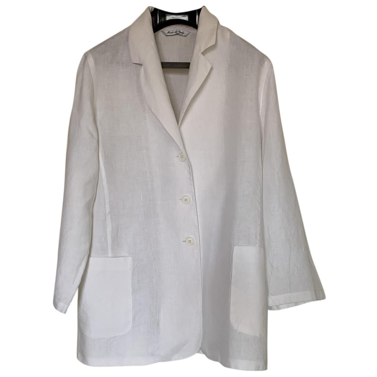 Intrend N White Linen jacket for Women L International