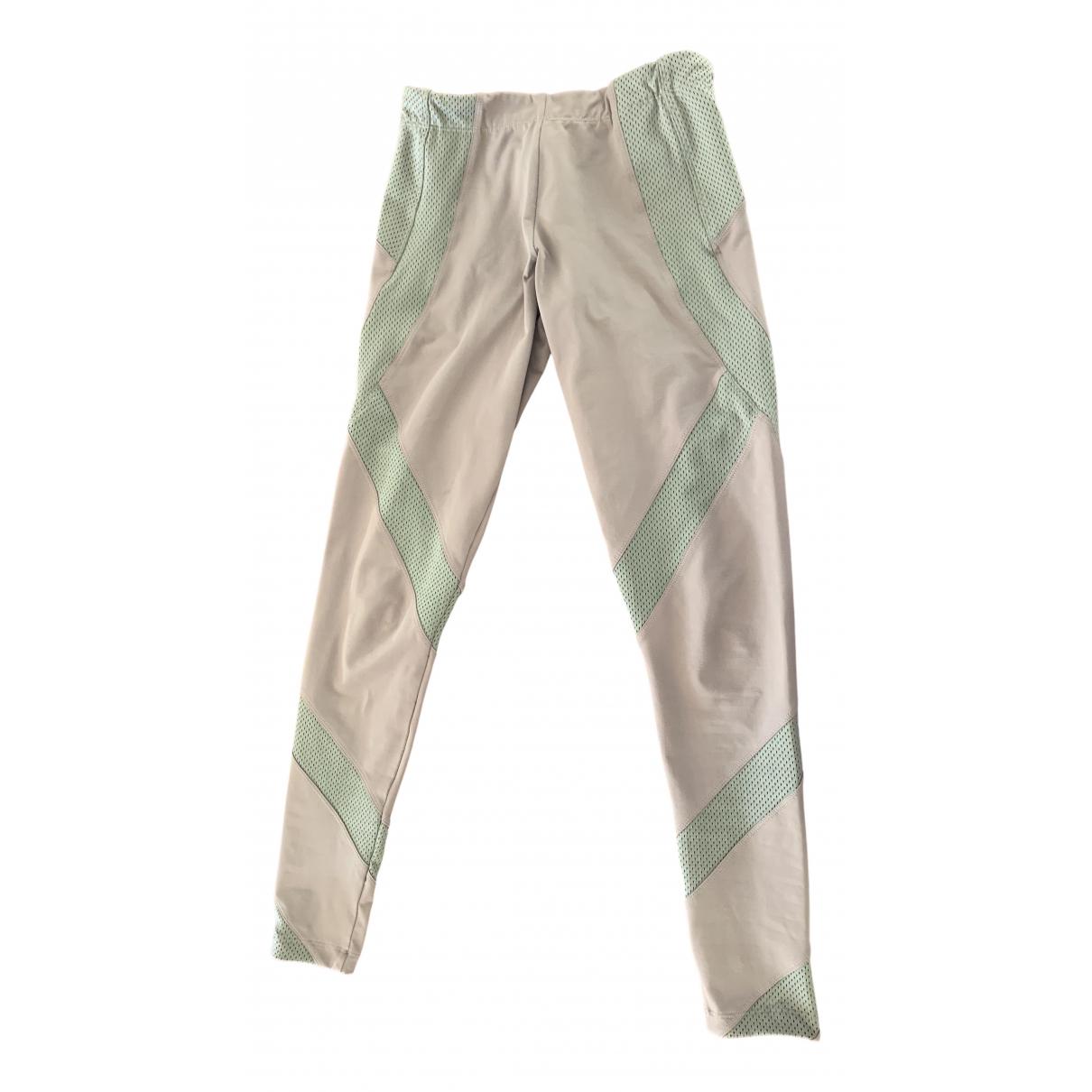 Stella Mccartney Pour Adidas N Beige Spandex Trousers for Women 36 FR