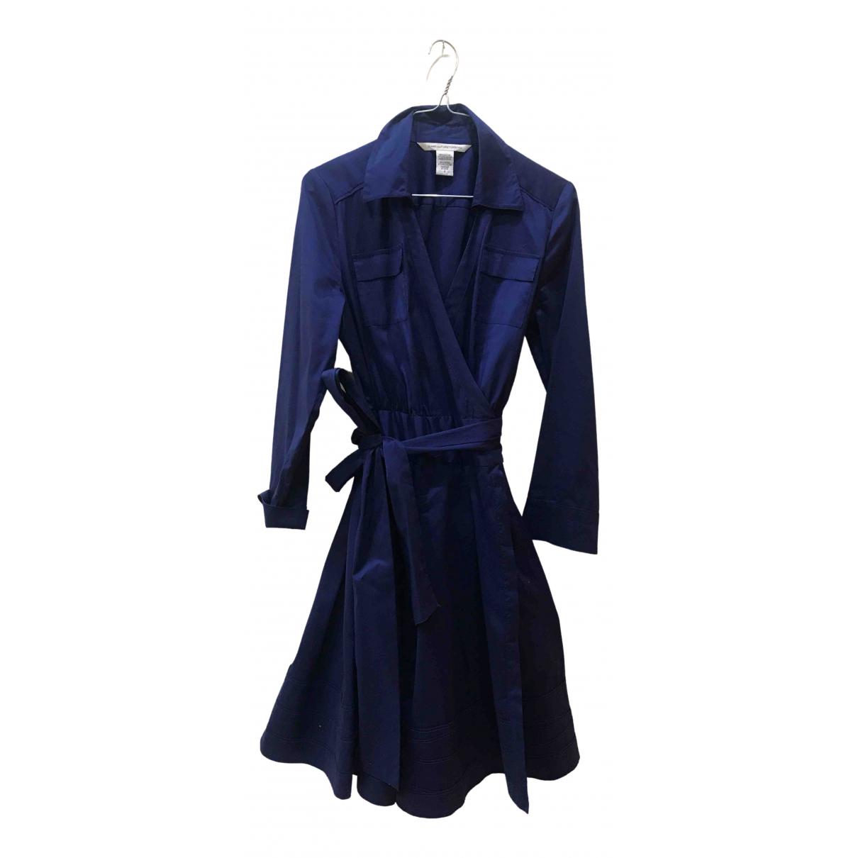 Diane Von Furstenberg \N Blue Cotton dress for Women 8 US