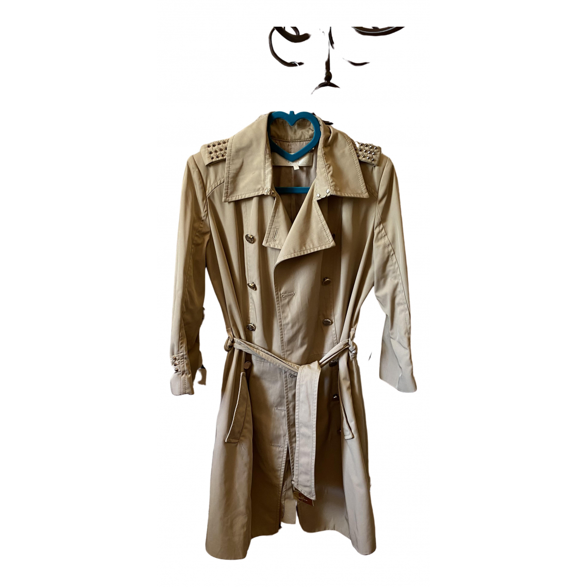 Elisabetta Franchi \N Ecru Cotton Trench coat for Women 44 IT