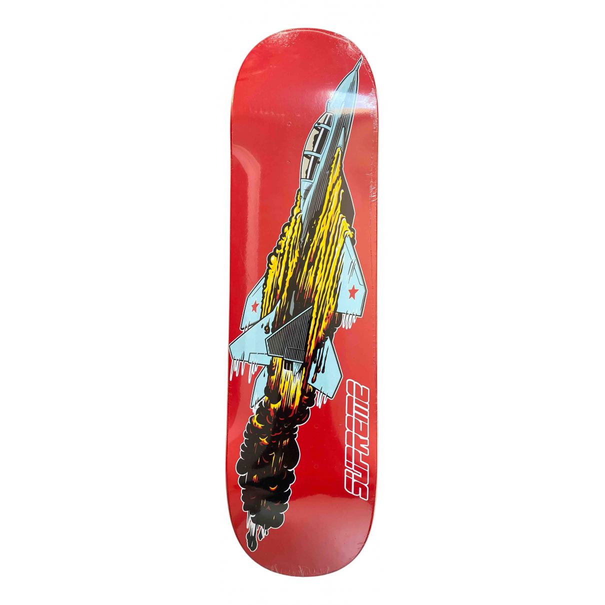 Supreme - Glisse   pour lifestyle en bois - rouge