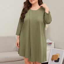 T-Shirt Kleid mit asymmetrischem Saum
