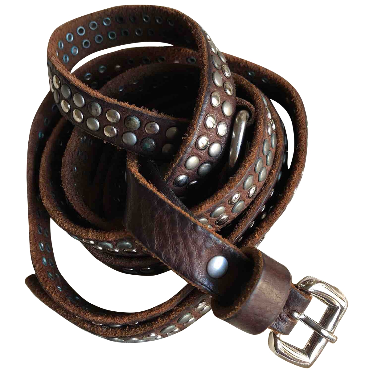 Non Signé / Unsigned \N Brown Metal belt for Women 85 cm