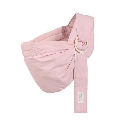 Ring Sling Baby Wrap Carrier for Infants, Newborns, Breastfeeding Privacy - Pink