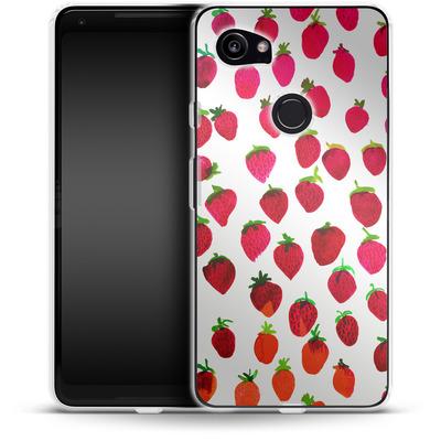 Google Pixel 2 XL Silikon Handyhuelle - Strawberries von Amy Sia