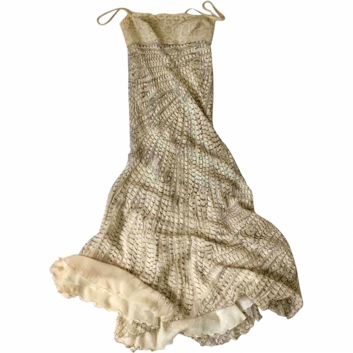 Roberto Cavalli \N Beige Silk dress for Women S International