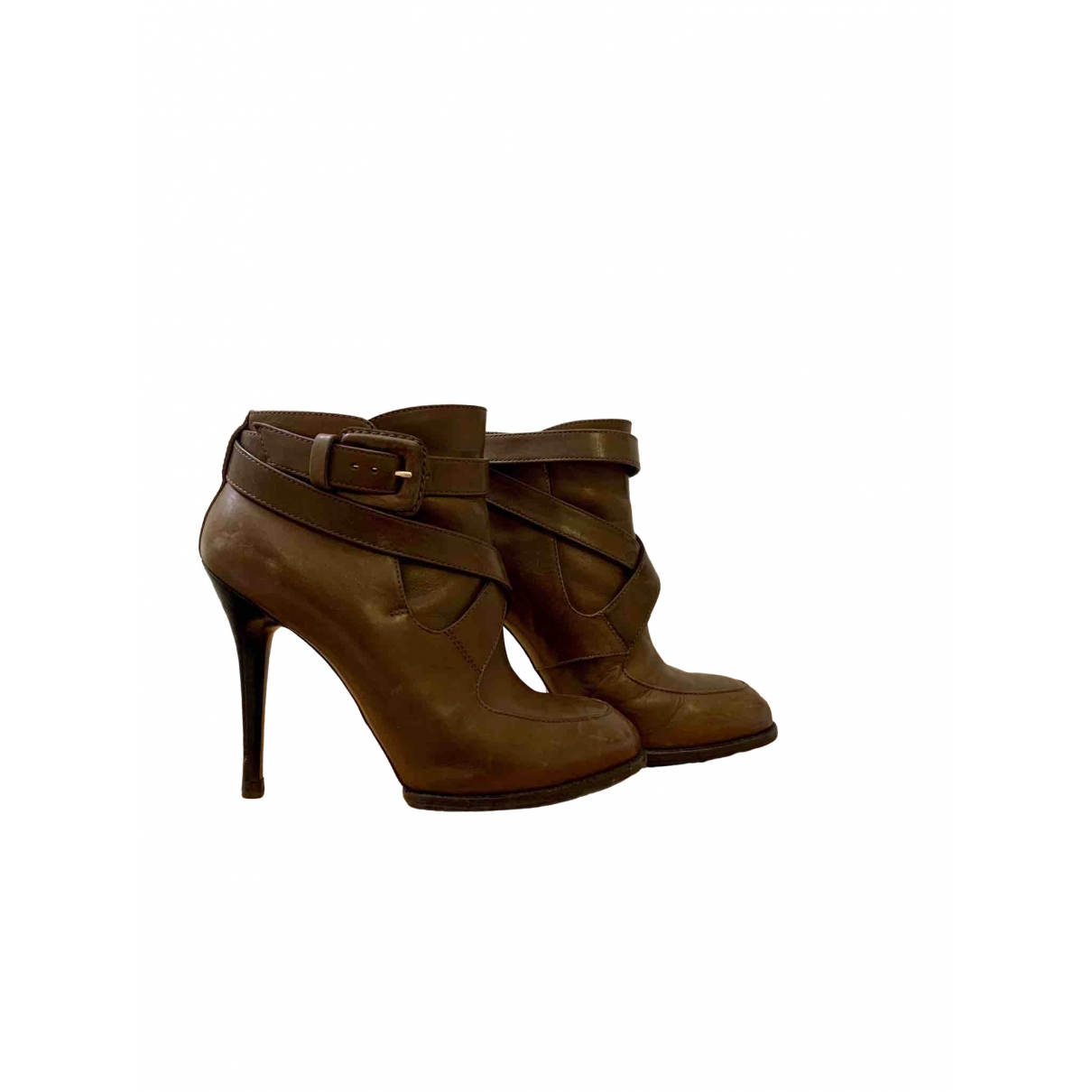 Tod's \N Brown Leather Ankle boots for Women 36.5 EU