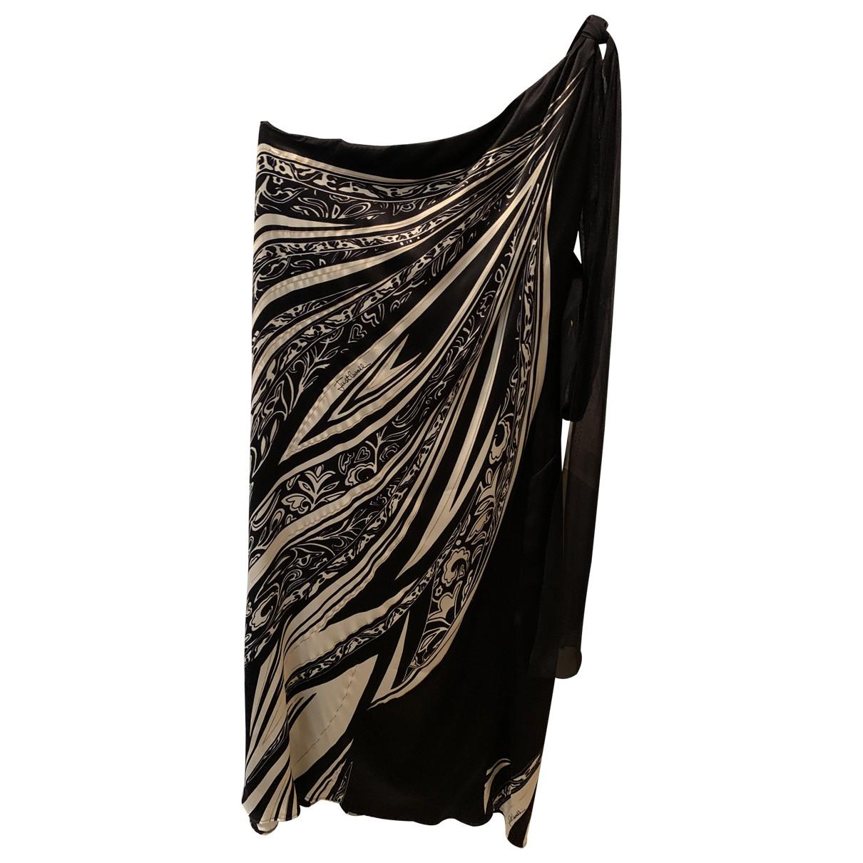 Just Cavalli \N Kleid in  Schwarz Seide