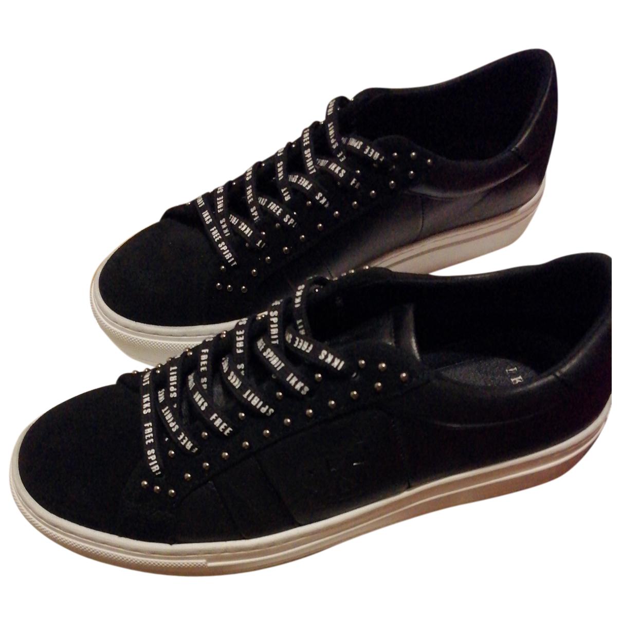 Ikks \N Sneakers in  Schwarz Leder