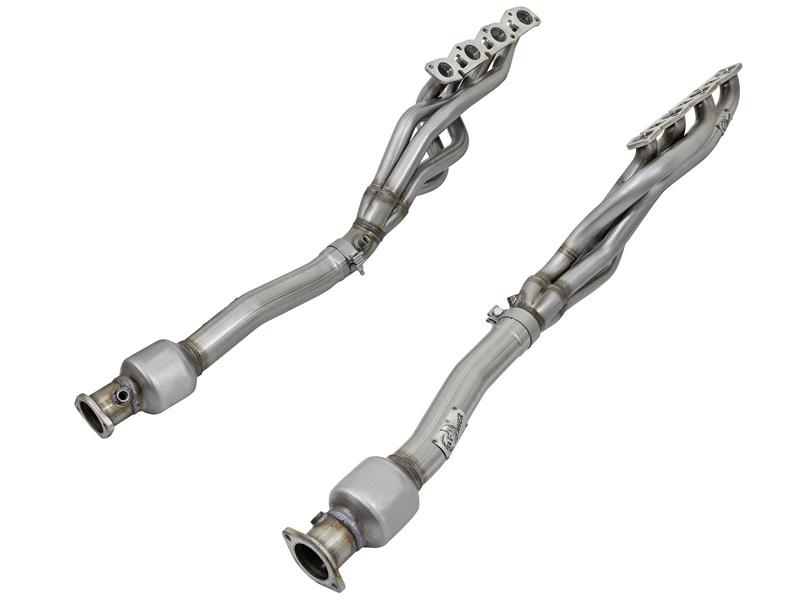 aFe POWER 48-36106-YC Twisted Steel Long Tube Header & Extension Pipes; Street Series Nissan Patrol (Y62) 10-17 V8-5.6L (400 hp)