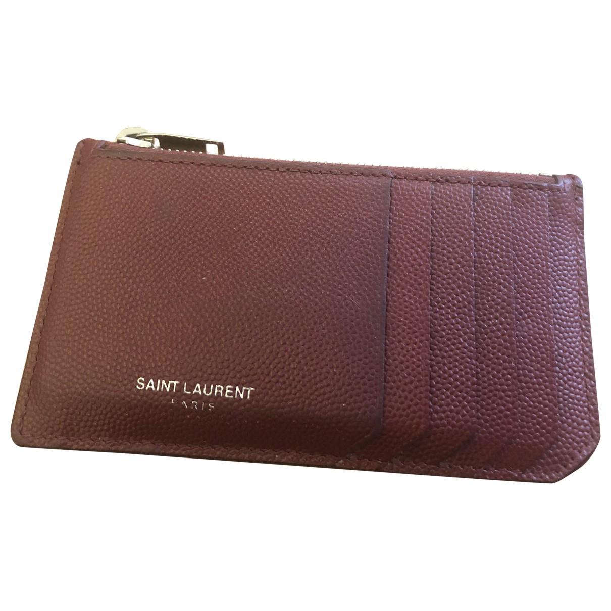 Saint Laurent \N Red Leather Small bag, wallet & cases for Men \N