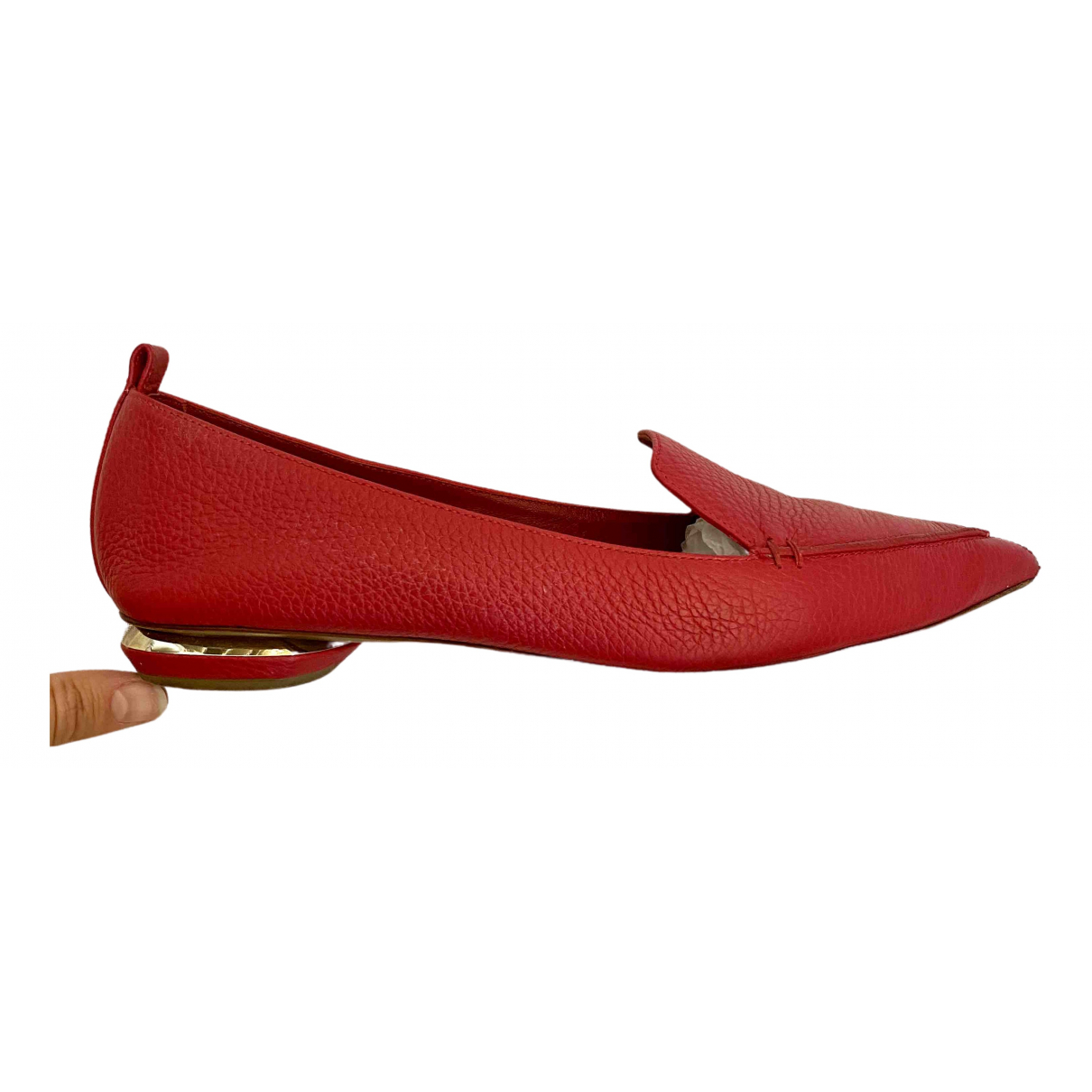 Nicholas Kirkwood \N Mokassins in  Rot Leder