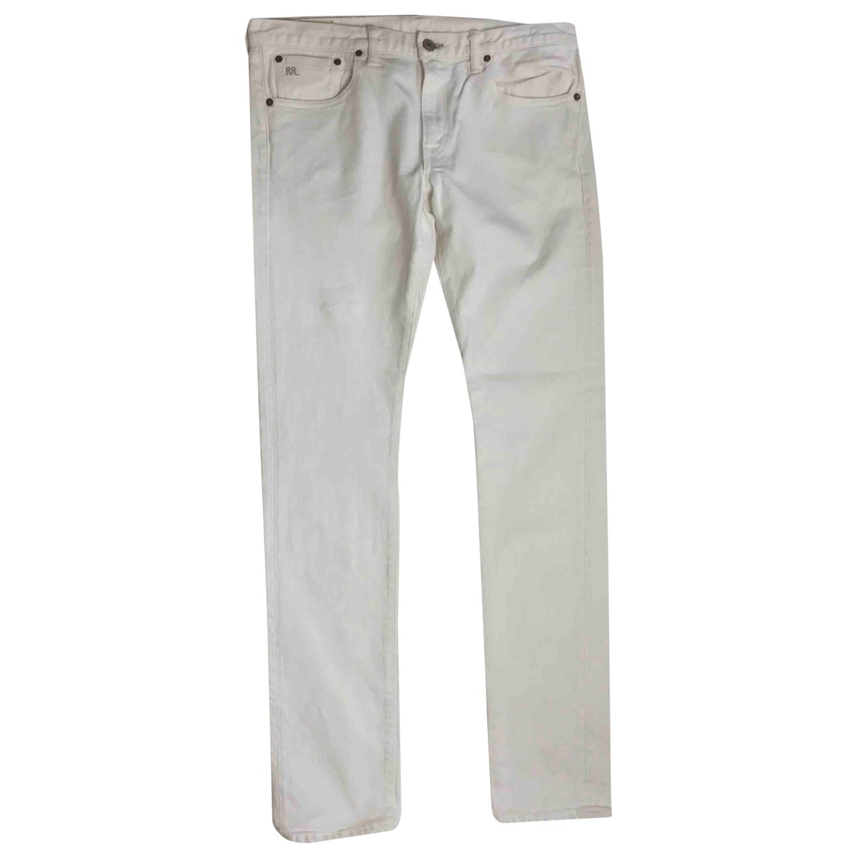 Polo Ralph Lauren \N White Cotton Jeans for Women 31 US