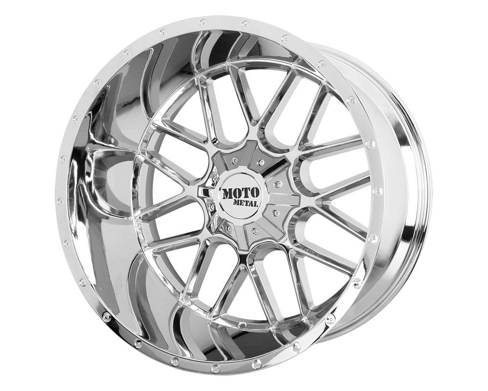 Moto Metal MO98621235244N MO986 Siege Wheel 20x12 5x5x127/5x139.7 -44mm Chrome