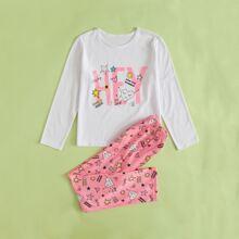 Homewear de Niñas Dibujos animados Dulce