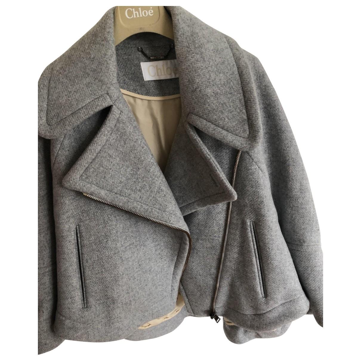 Chloe \N Jacke in  Grau Wolle