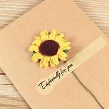 1 Set Zufaelliger Schreibepapier & Umschlag & Kuenstlochen Blume