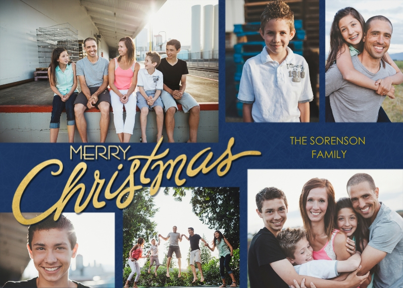 Christmas Photo Cards 5x7 Cards, Premium Cardstock 120lb with Scalloped Corners, Card & Stationery -Scripted Christmas