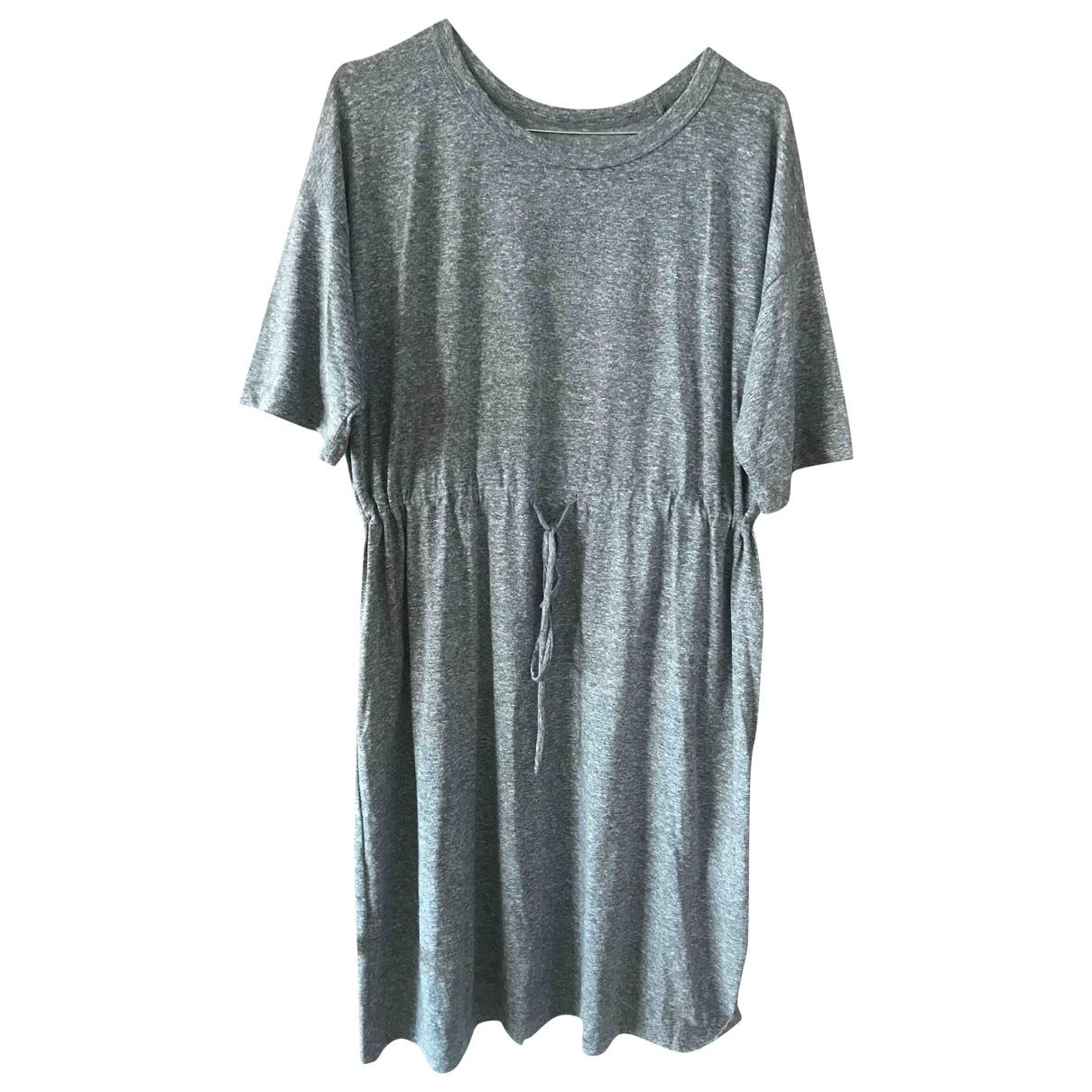 Current Elliott - Robe   pour femme en coton - gris