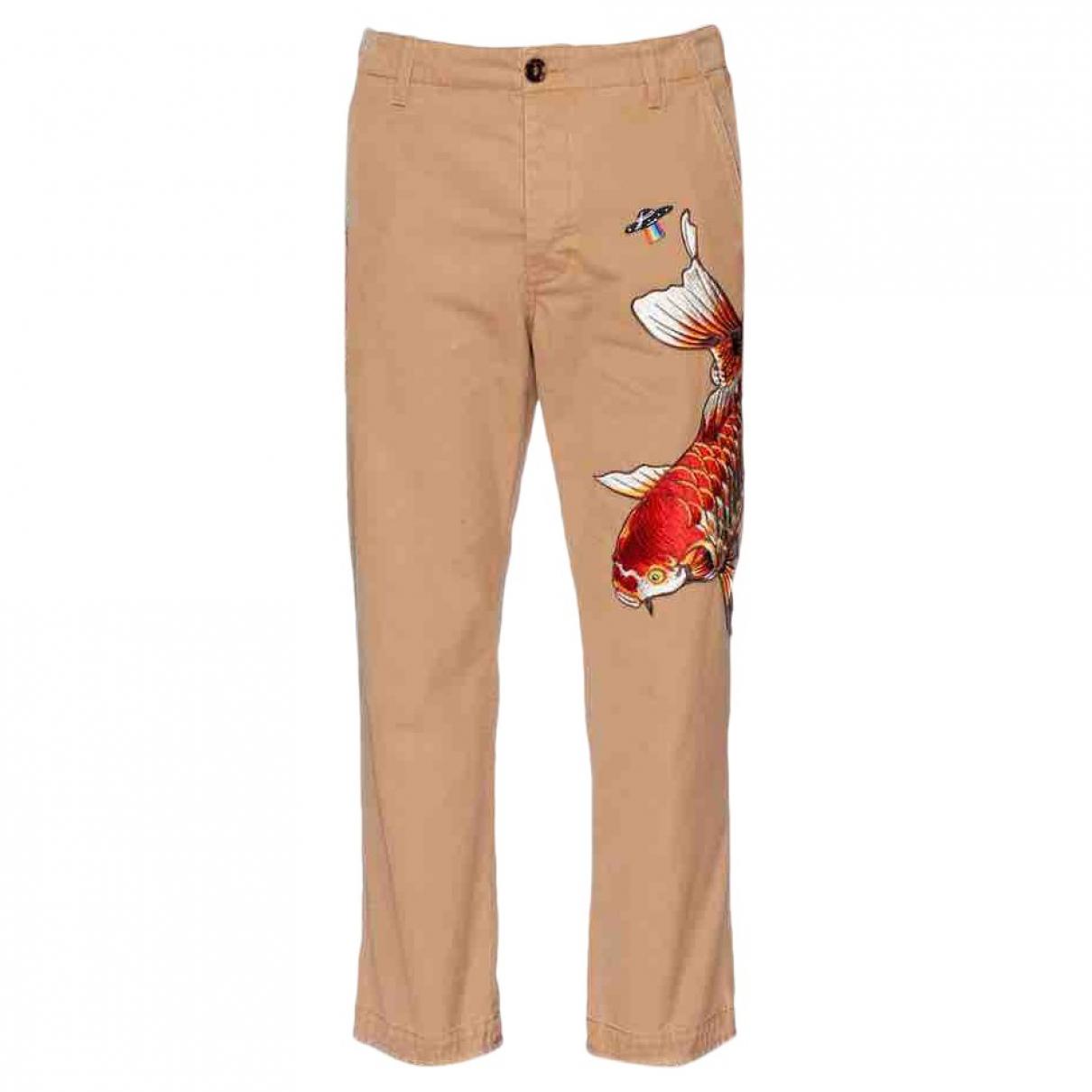 Pantalones en Algodon Beige Gucci