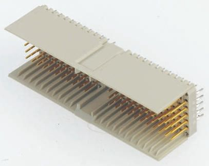TE Connectivity Z-PACK HM Series 2mm Pitch Hard Metric Type A Backplane Connector, Male, Right Angle, 22 Column, 5 Row,