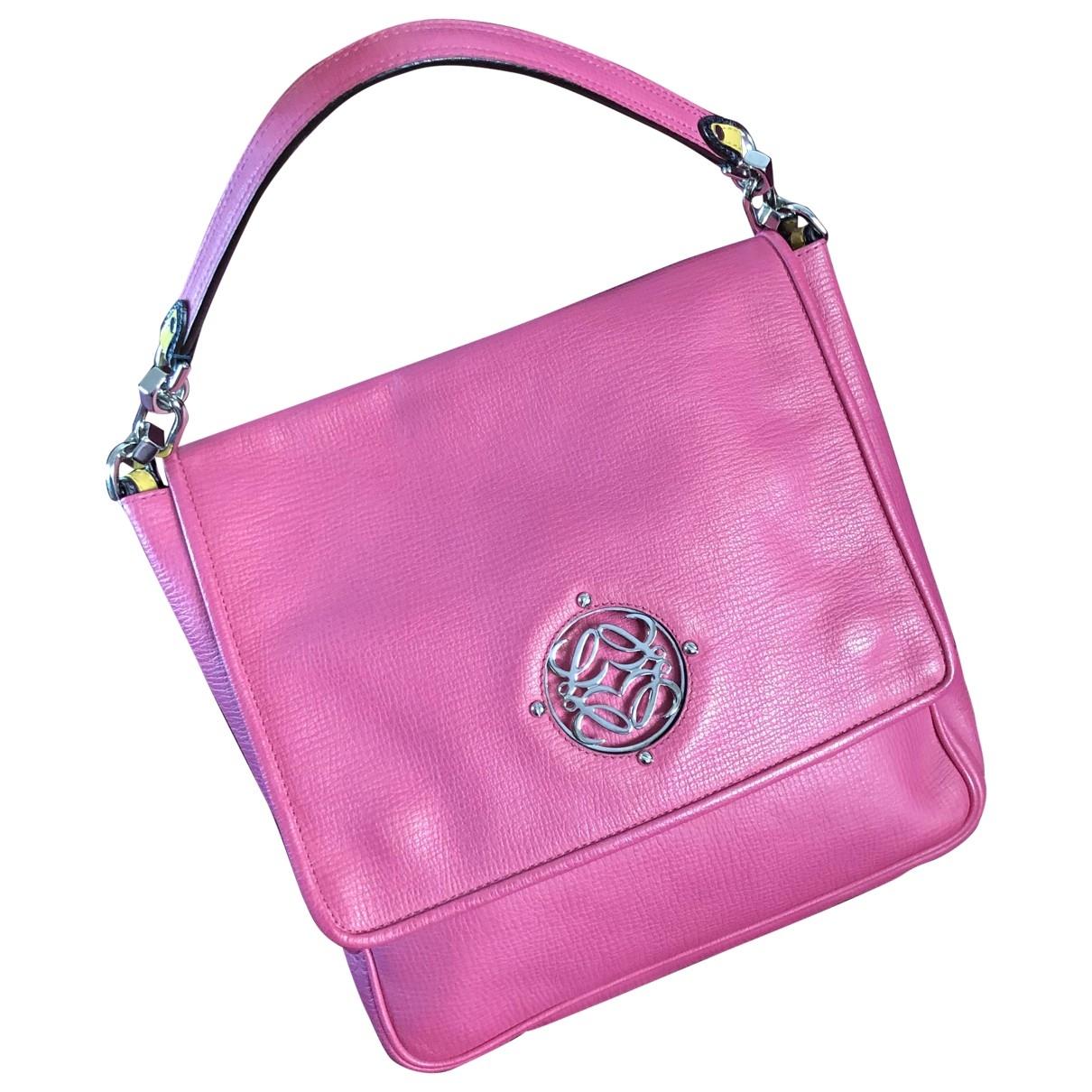 Loewe \N Pink Leather handbag for Women \N