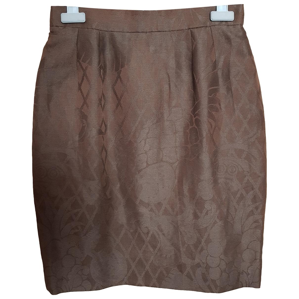 Dior \N Brown Cotton skirt for Women 40 FR