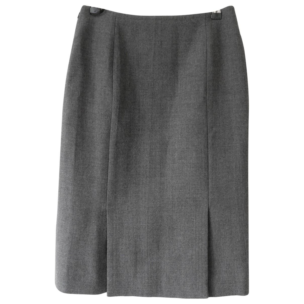 Dior \N Rocke in  Grau Wolle