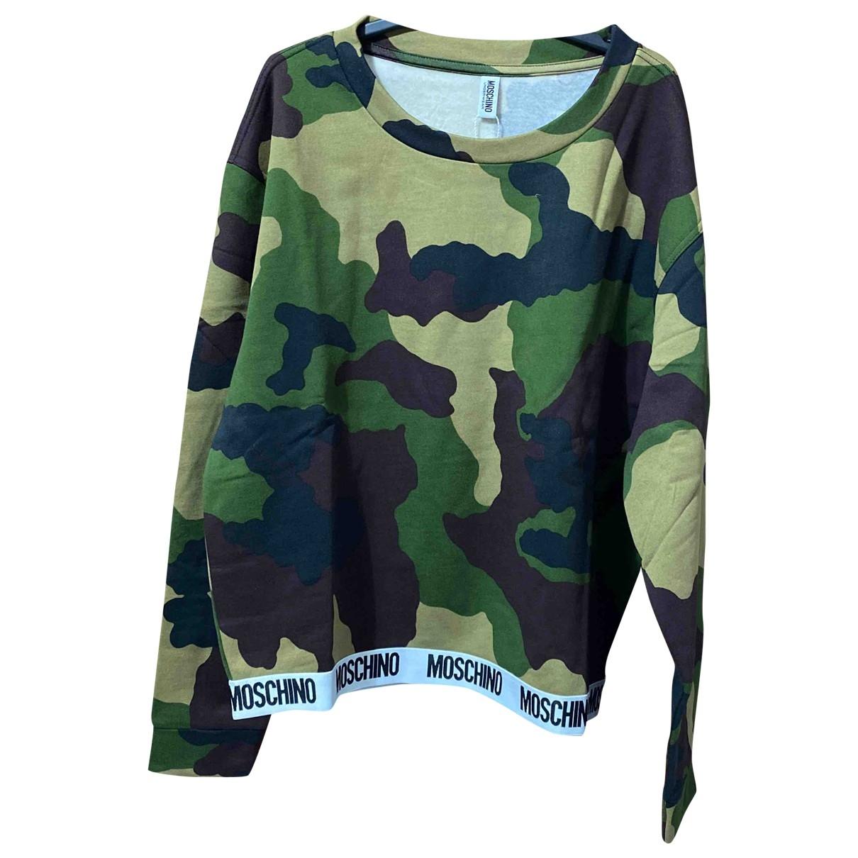 Moschino \N Pullover in  Gruen Baumwolle