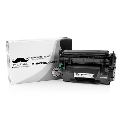 Compatible HP 87A CF287A MICR Black Toner Cartridge - Moustache Brand