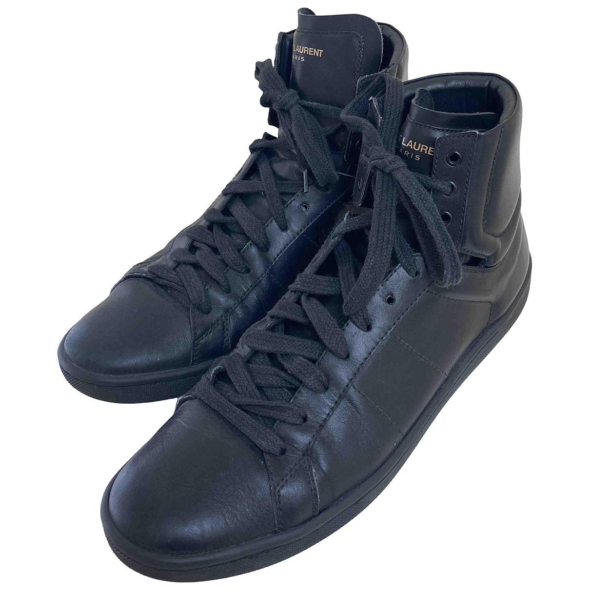 Saint Laurent - Baskets   pour femme en cuir - noir
