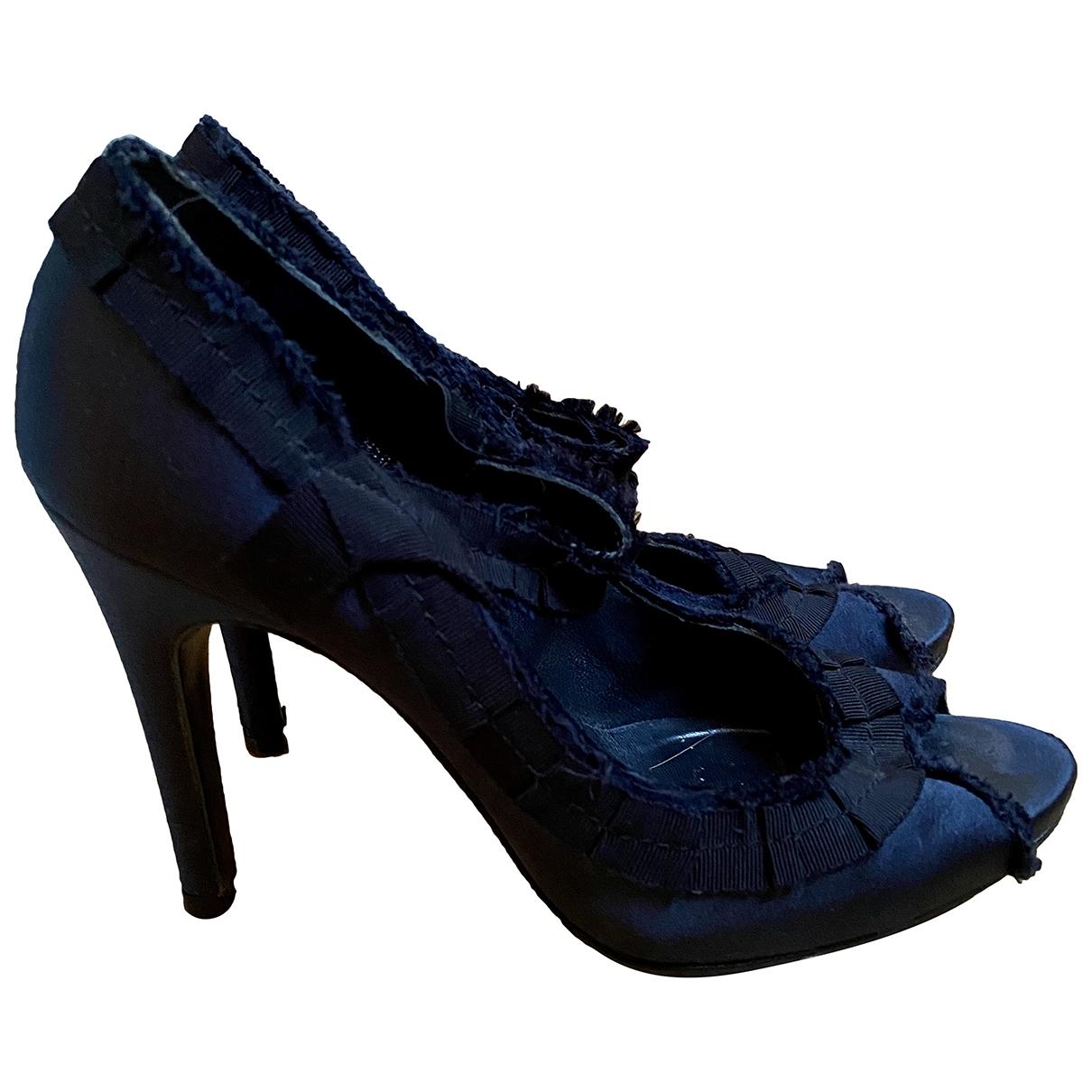 Pedro Garcia - Escarpins   pour femme en toile - bleu