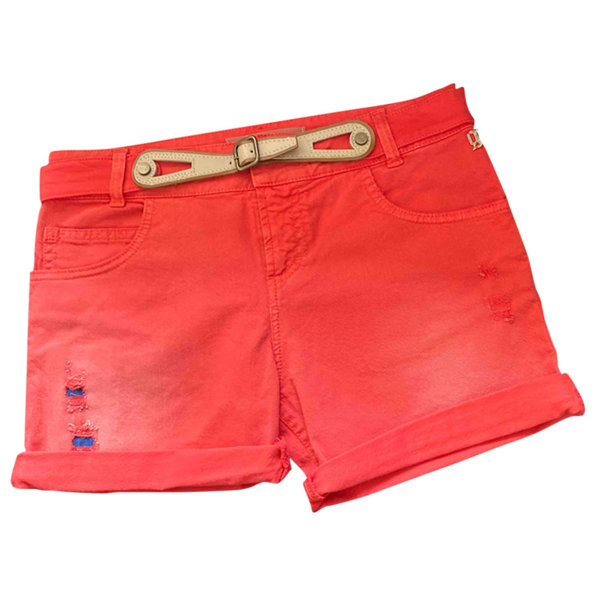 Galliano \N Red Cotton Shorts for Women 40 FR