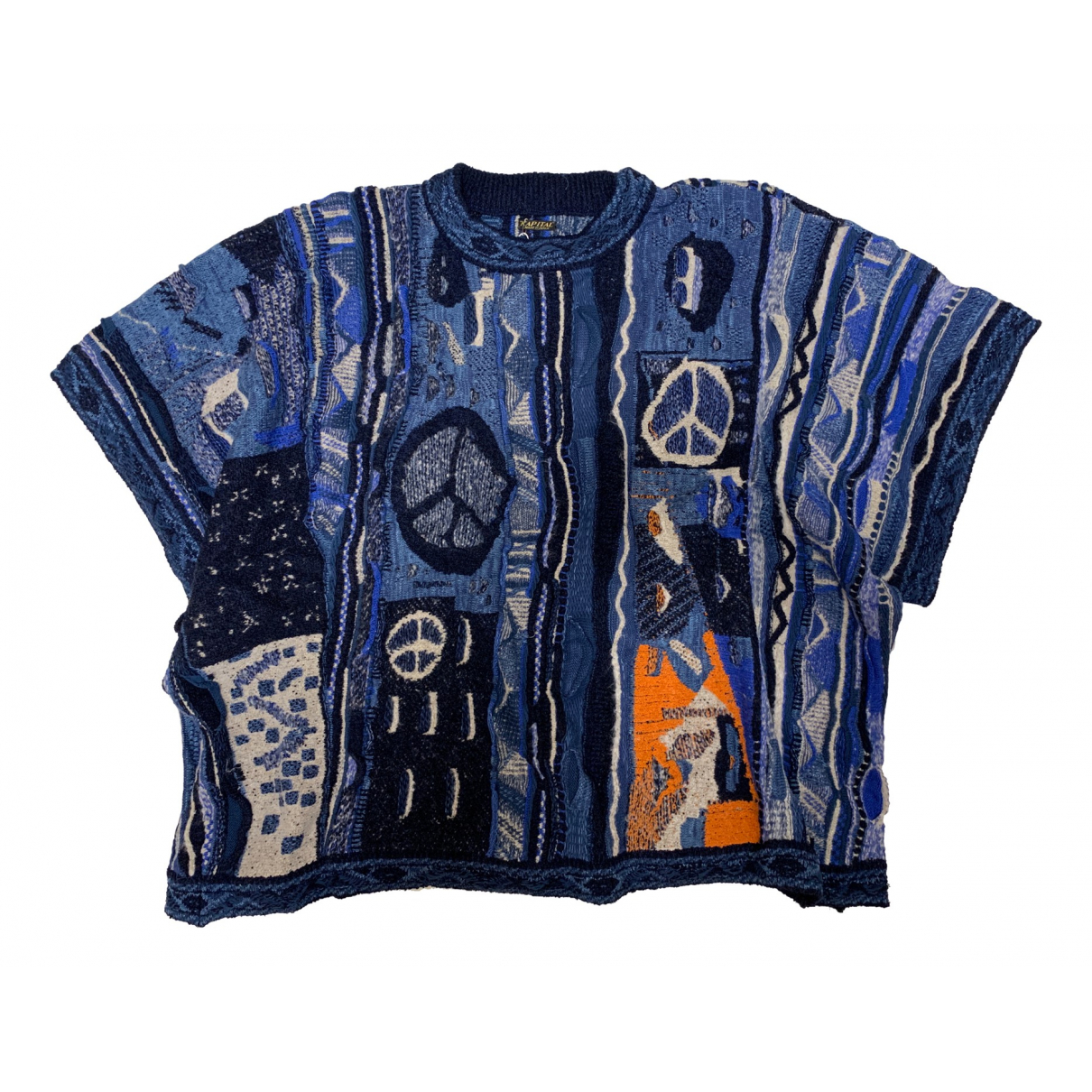 Non Signé / Unsigned \N Blue Cotton Knitwear for Women L International