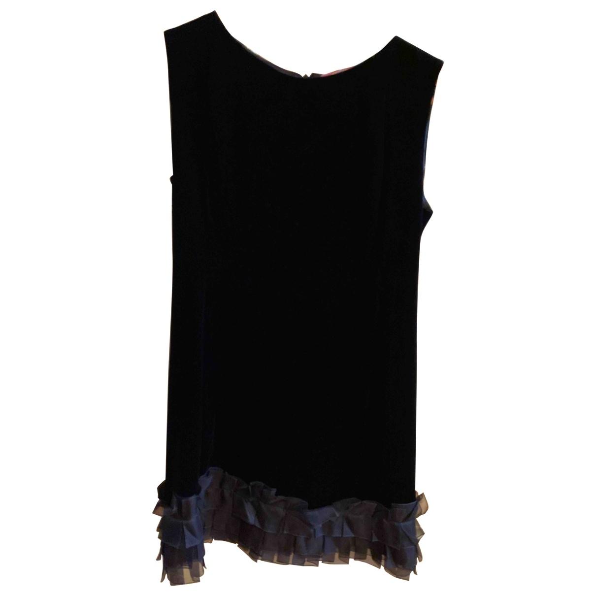 Blumarine \N Kleid in  Schwarz Samt