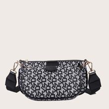 3 Stuecke Tasche Set mit geometrischem Muster