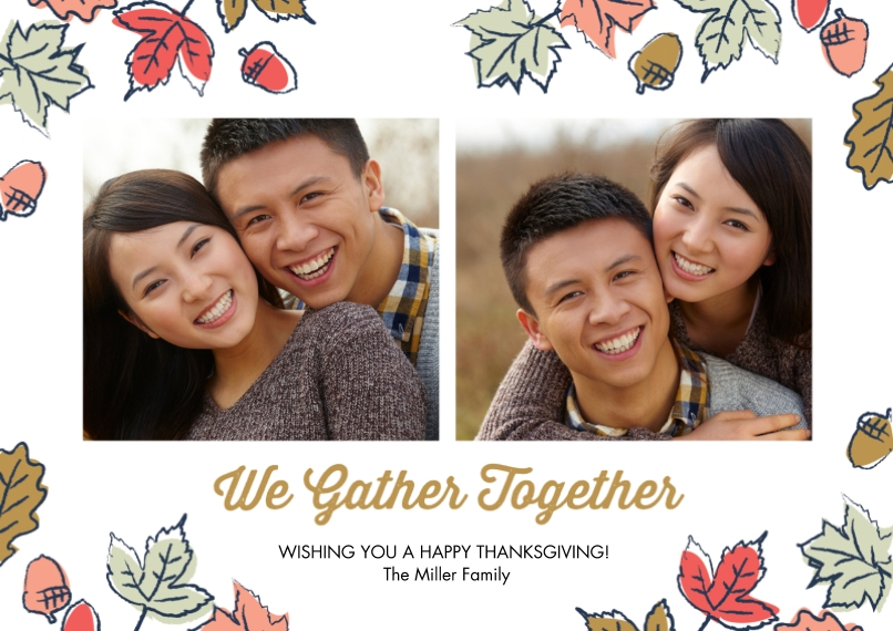 Thanksgiving Photo Cards Mail-for-Me Premium 5x7 Flat Card, Card & Stationery -Gather Round