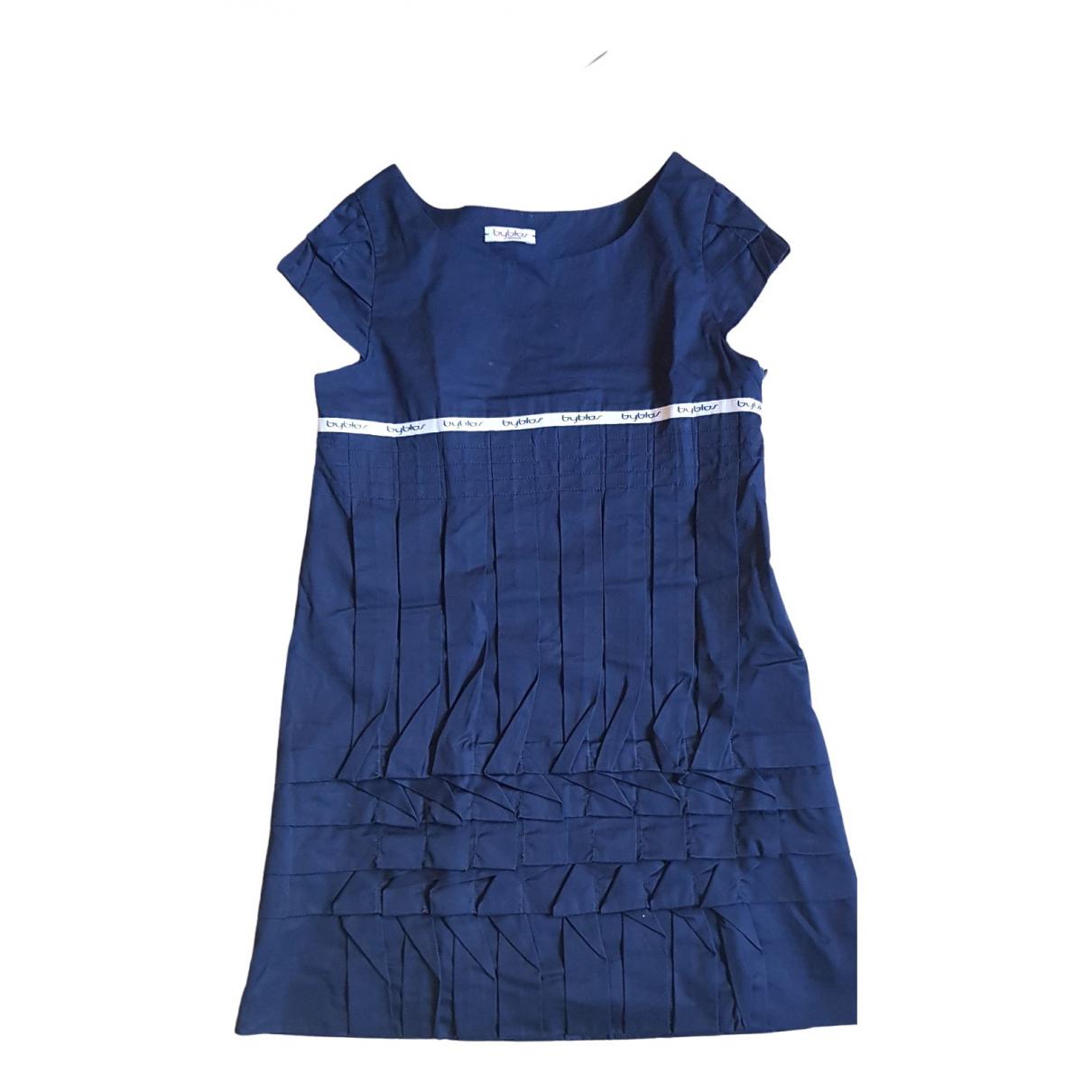 Byblos \N Kleid in  Blau Baumwolle
